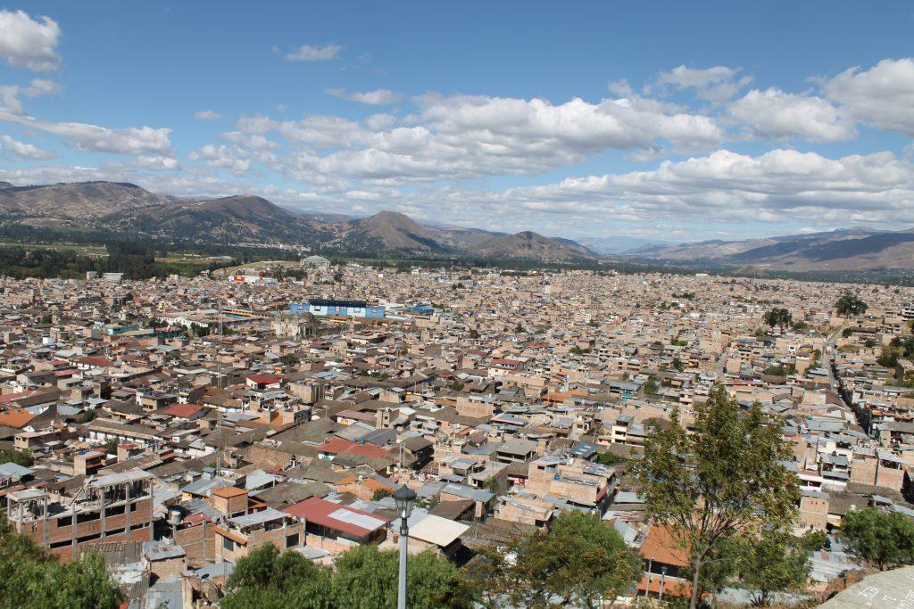 Blick auf Cajamarca von oben